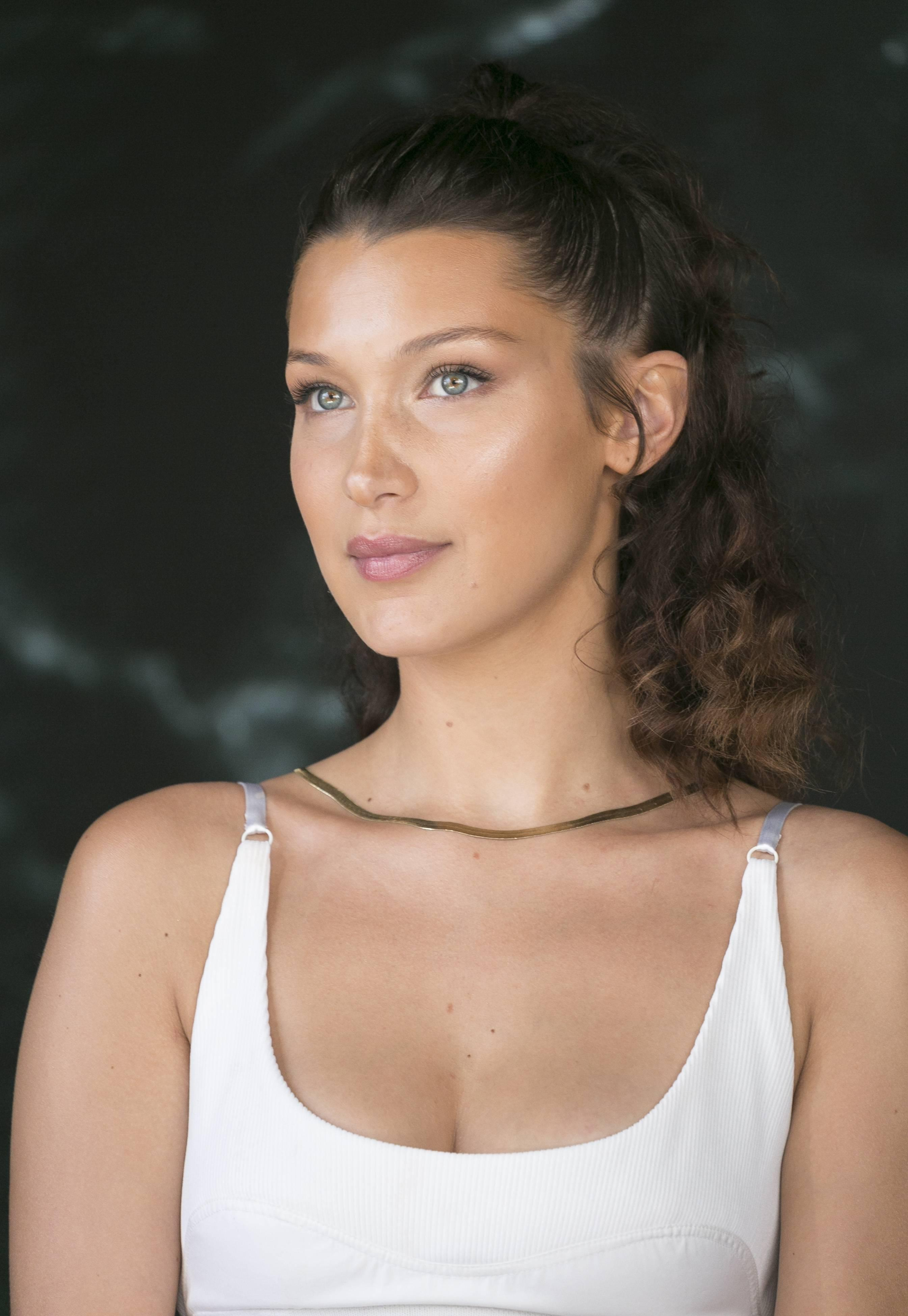 bella-hadid-attends-the-press-conference-of-magnum-x-alexander-wang-during-the-71st-cannes-film-festival